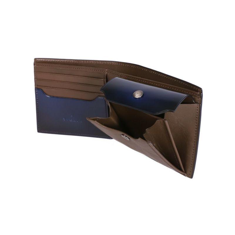 YUHAKU コードバン 二つ折り財布 の内装画像